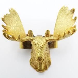 Vintage Caribou Moose 10K Gold Bolo Tie Holder